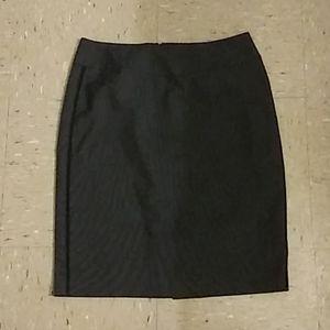 Grey And Black Formal Skirt